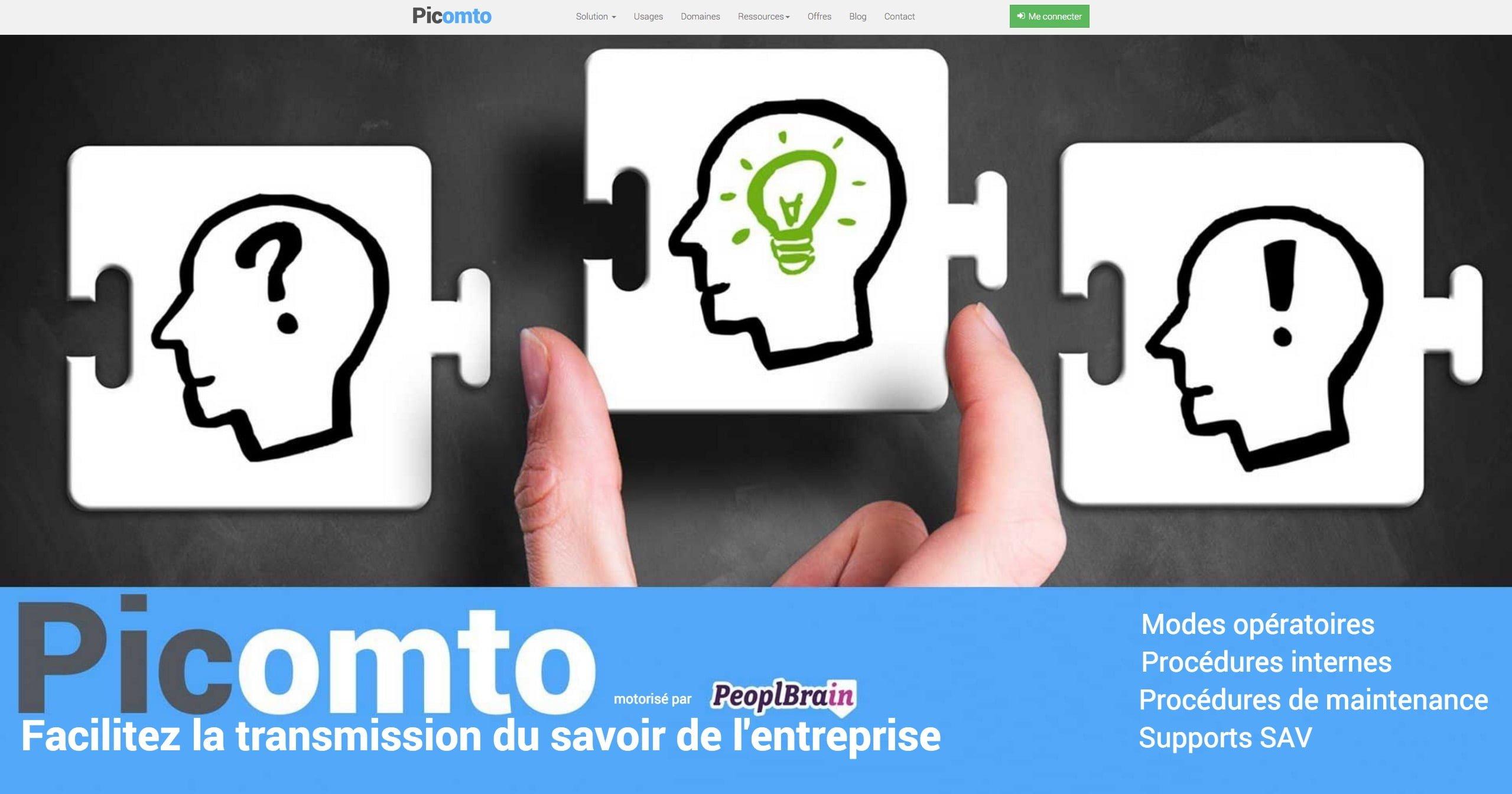Picomto, une solution innovante pour partager facilement le savoir de l'entreprise !