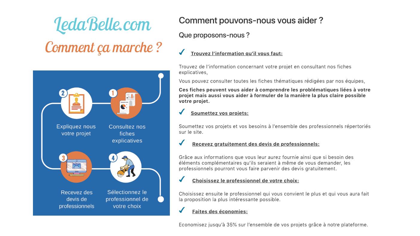 Ledabelle.com lance son offre d'accompagnement pour trouver un pro