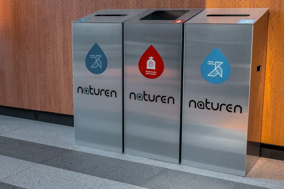 Les solutions design pour vos poubelles de tri sélectif en entreprise